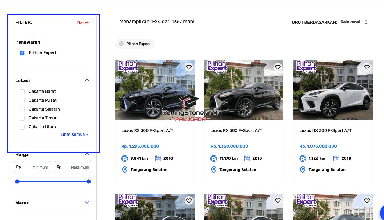 Listing-dan-Filter-